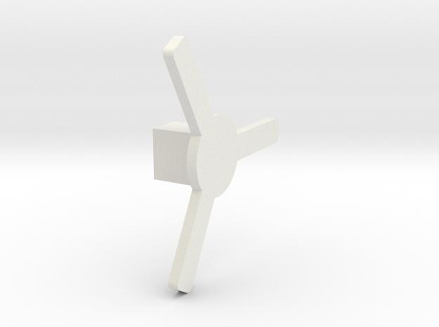 Cross Box Key in White Natural Versatile Plastic