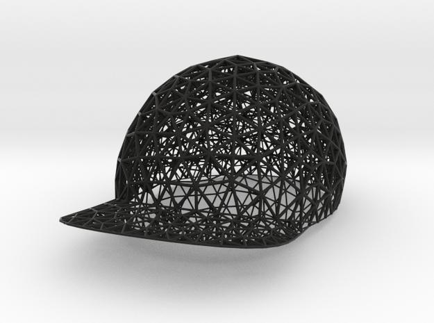 Baseball cap in Black Strong & Flexible