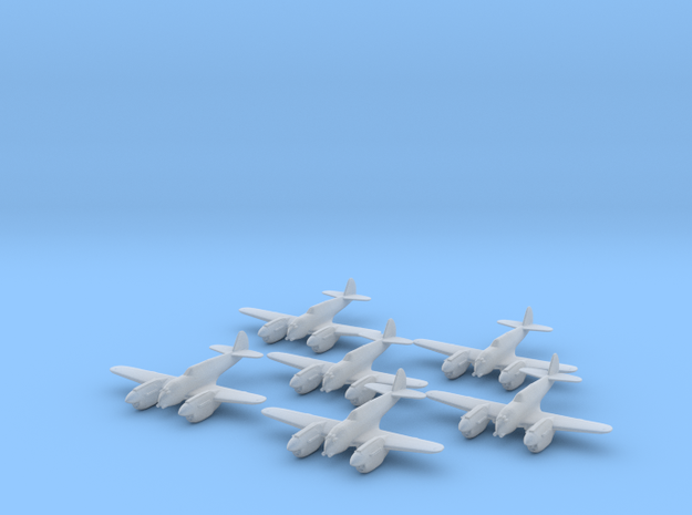 Curtiss P-40 Twin (Proposed) 1:285 x6 FUD in Smooth Fine Detail Plastic