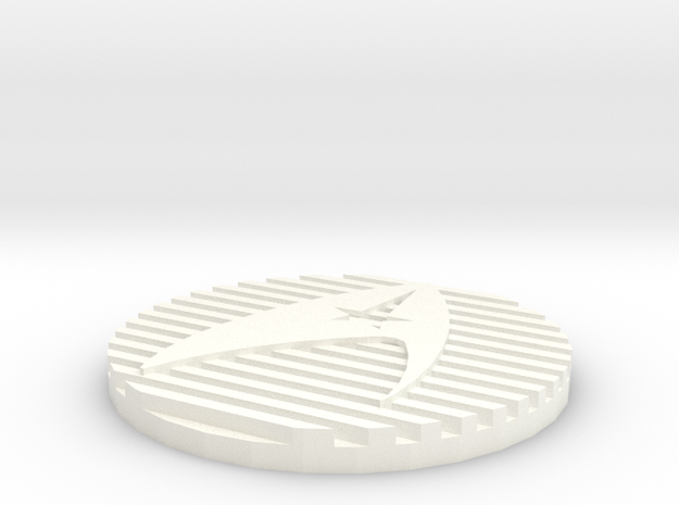 Kirk Generations Vest Zip Tab/Button in White Processed Versatile Plastic