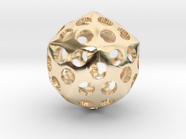 Deltoidal Hexacontahedron Roller in 14K Yellow Gold