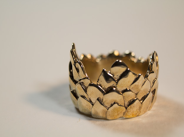 Scale Ring in Polished Bronze: 7.25 / 54.625