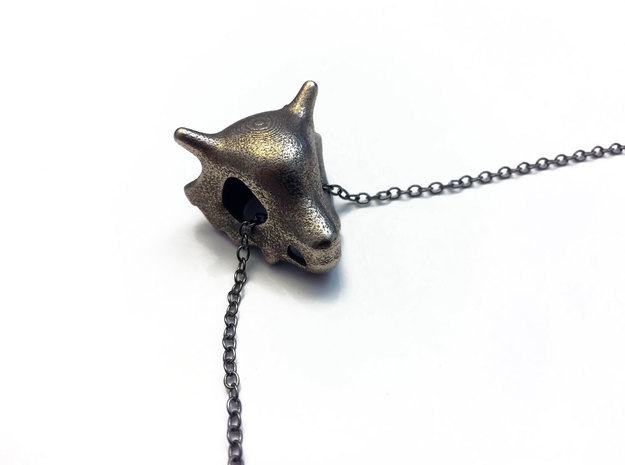 Cubone Skull Pendant in Stainless Steel