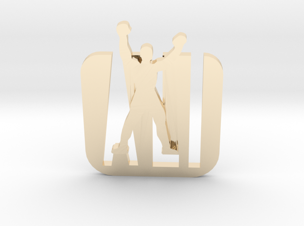 Ali- Pendant,plane in 14k Gold Plated Brass