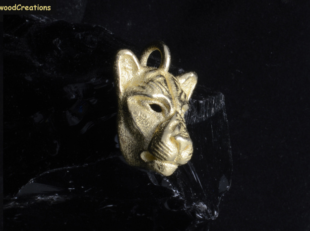 Lioness Pendant Small in Stainless Steel