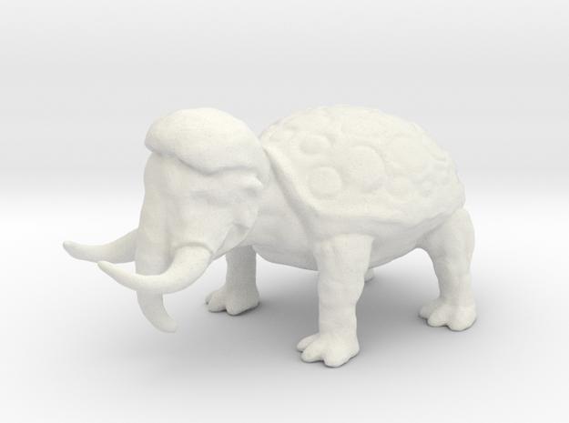 Woolly Tortoodon in White Natural Versatile Plastic