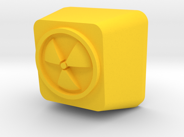 Topre Radioactive in Yellow Processed Versatile Plastic