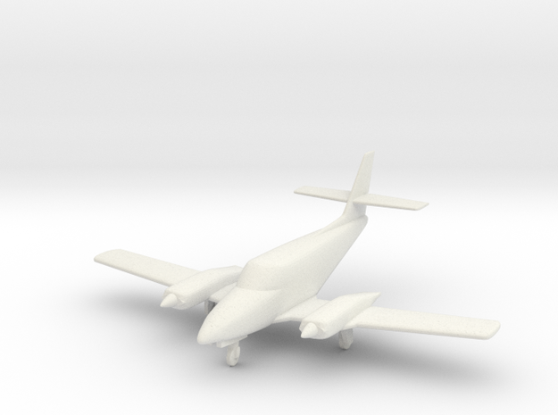 Cessna T303 Crusader aircraft in 1/96 scale in White Natural Versatile Plastic