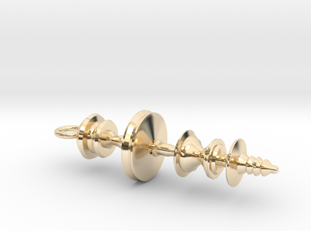 """""""May the Force Be With You"""" Star Wars Waveform in 14k Gold Plated"""