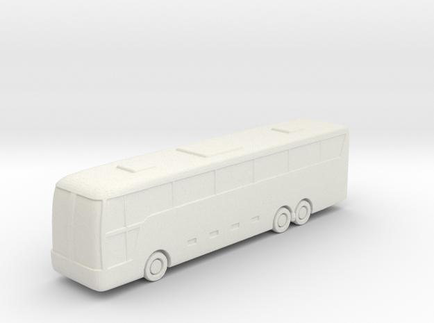 1:285 Large Bus in White Natural Versatile Plastic