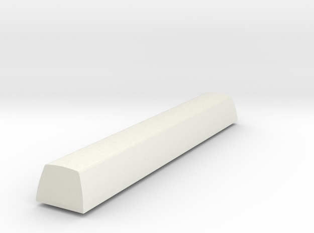 Customisable Topre Spacebar - SA Profile Row 3 in White Natural Versatile Plastic