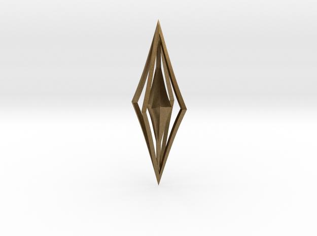 Diamond Pendant in Raw Bronze
