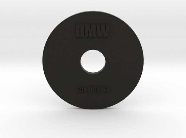 Clay Extruder Die: Circle 001 04 in Black Natural Versatile Plastic