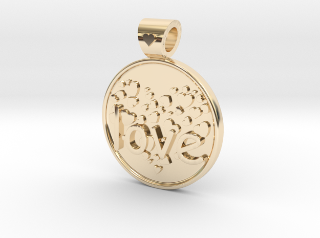 Love is Forever, pendant in 14K Yellow Gold