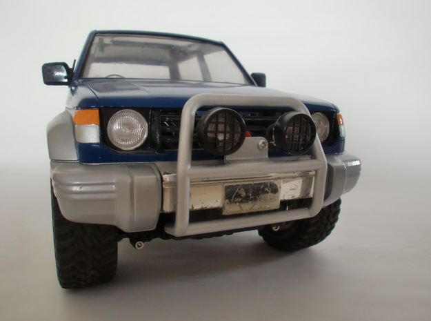 Tamiya Pajero front guard type 2 in White Natural Versatile Plastic