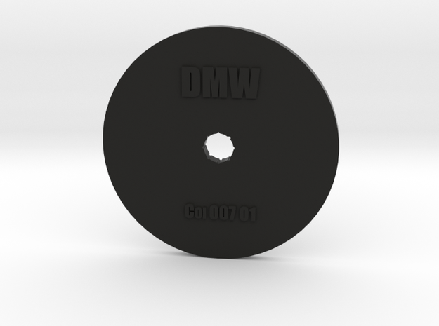 Clay Extruder Die: Coil 007 01 in Black Natural Versatile Plastic