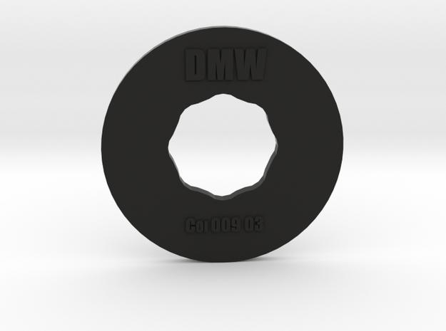 Clay Extruder Die: Coil 009 03 in Black Natural Versatile Plastic