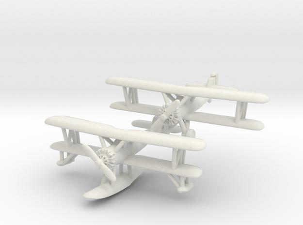 Vought O2U-1 Corsair Pair 1/285 6mm in White Natural Versatile Plastic