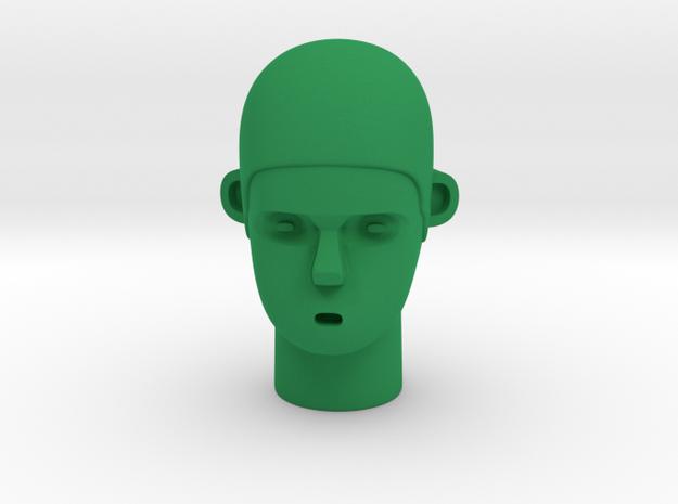 Skull Head in Green Processed Versatile Plastic