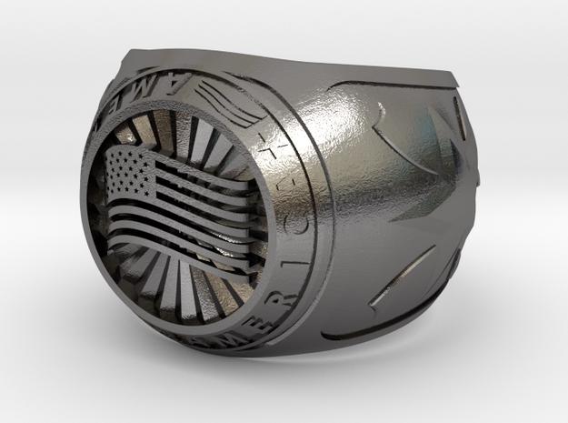 America Ring 24mm in Polished Nickel Steel