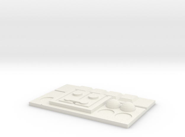 Hoth Rank Badge in White Natural Versatile Plastic