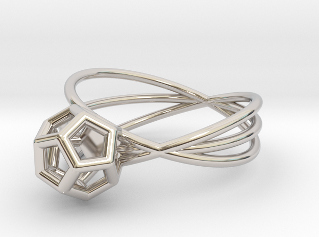 Essential Simplicity - Ring in Rhodium Plated Brass
