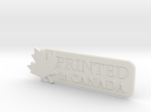 Printed In Canada in White Strong & Flexible