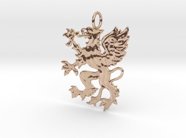 Griff Pendant in 14k Rose Gold Plated Brass