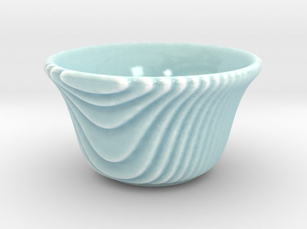 DRAW tea bowl - steppy sippy in Gloss Celadon Green Porcelain