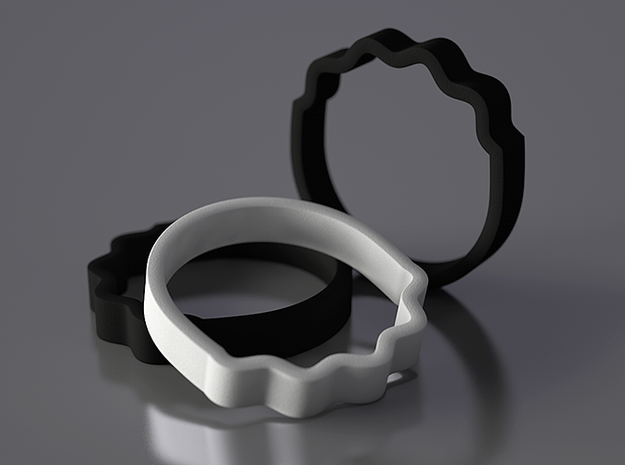 Wave Ring - Negative [sizes 7-10] 3d printed