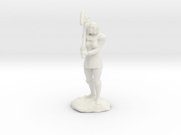 Female Half Orc Barbarian with Axe