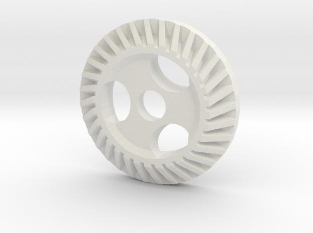 "Immortan Joe ""Hypoid"" Gear Badge / Medal for Shin in White Natural Versatile Plastic"