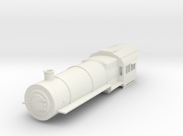 PRR H8 G Scale Boiler and Cab, Simplified in White Natural Versatile Plastic