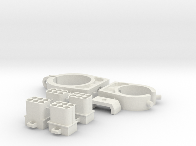 ESB EE-3 Barrel Greeblies in White Natural Versatile Plastic