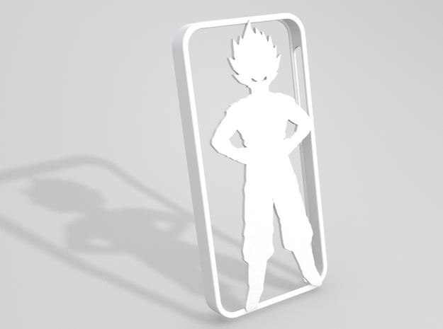 Goku iPhone 5 case in White Strong & Flexible