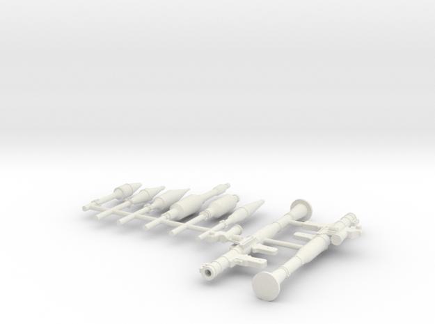 RPG 7 Model 1:18 scale  in White Natural Versatile Plastic