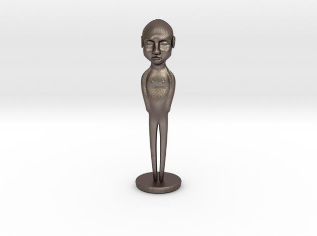 Figure in Polished Bronzed Silver Steel
