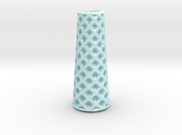 DRAW vase - B ceramic in Gloss Celadon Green Porcelain