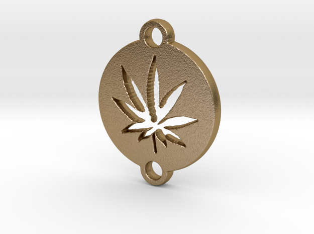 KEY CHAIN 6 in Polished Gold Steel