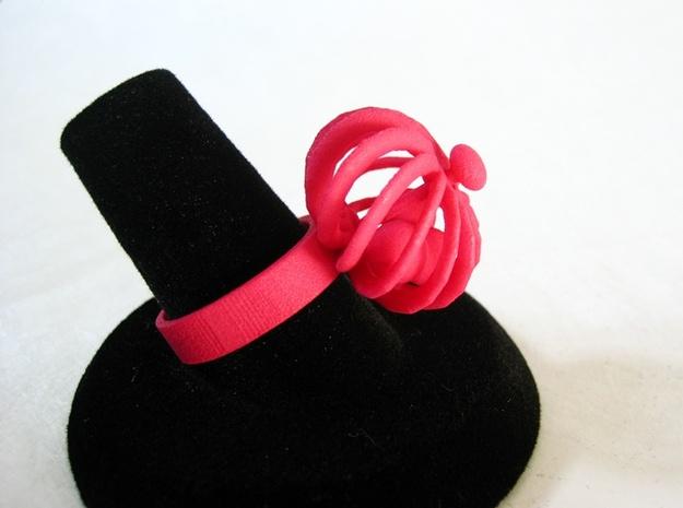 Fidget Ring - Turbine spinner ring 3d printed