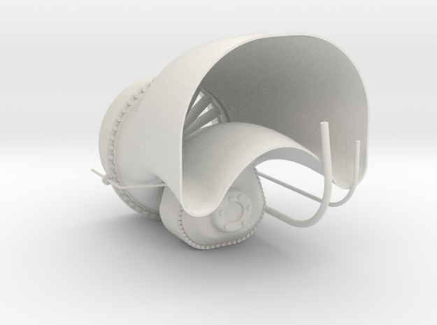 1.4 ECUREUIL AS350 exhaust sytem in White Natural Versatile Plastic