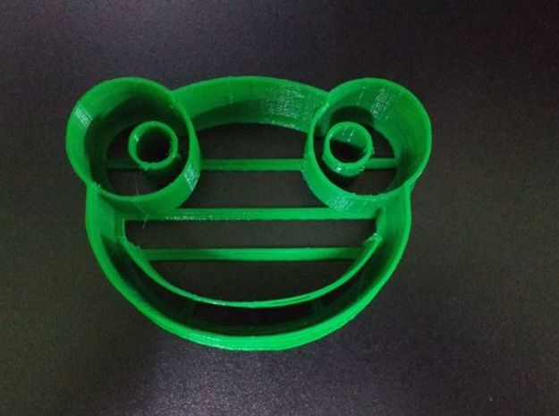 Sapo Pepe Frog Cookie Cutter  in Green Processed Versatile Plastic