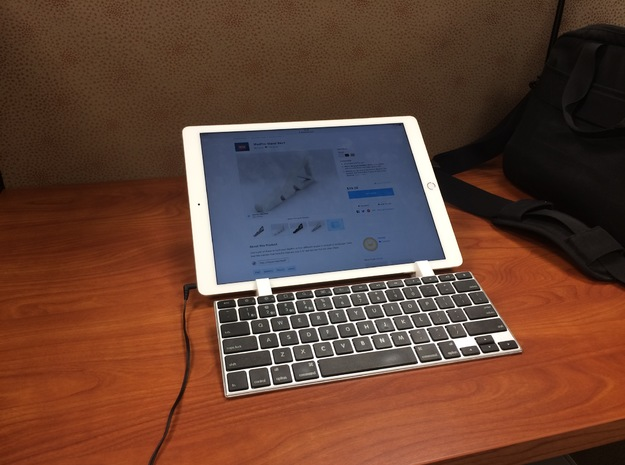 iPadPro Stand Rev2 in White Strong & Flexible