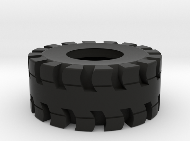 Tire for trailer load in Black Natural Versatile Plastic