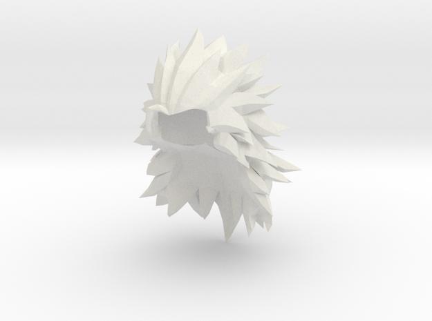Custom Goku SSj3 (XV) Inspired Lego in White Natural Versatile Plastic