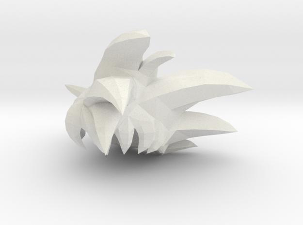 Custom Goku God Inspired Lego in White Natural Versatile Plastic