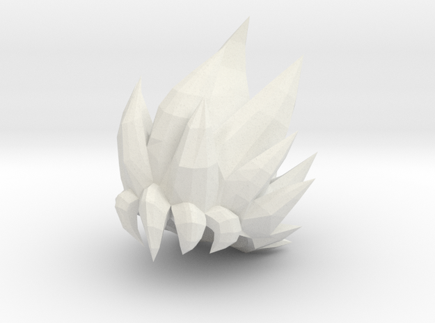 Custom Goku SSjG1 Inspired Hair for Lego in White Natural Versatile Plastic