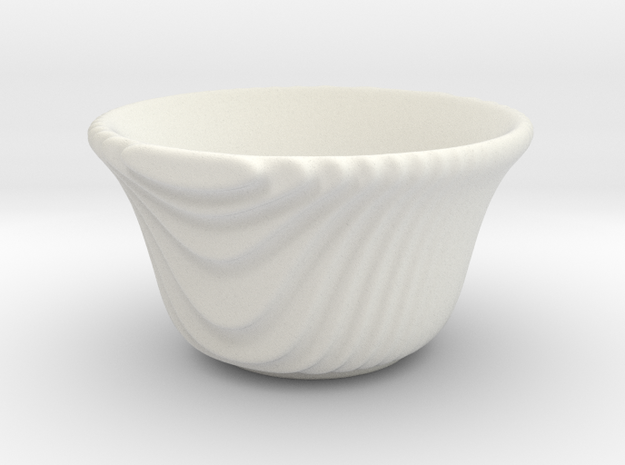 DRAW tea bowl - steppy sippy in White Natural Versatile Plastic