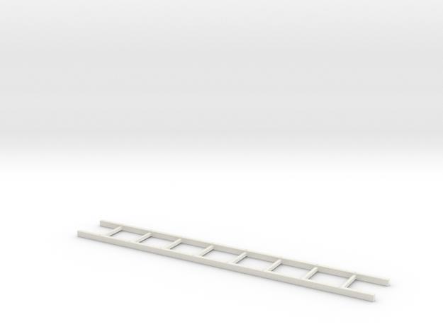 18th Century Wooden Ladder 24-01 in White Natural Versatile Plastic