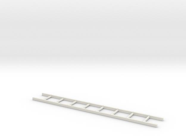 18th Century Wooden Ladder 35-01 in White Natural Versatile Plastic